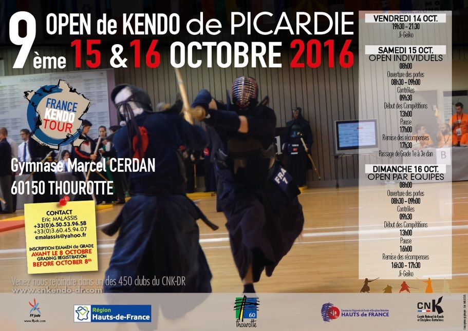 9 me open de picardie 2016 kendo dupas dojo for Kendo dojo locator